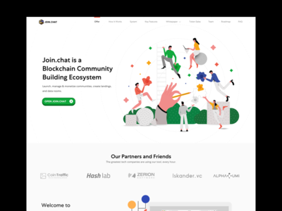 Join.Chat - Landing Page 2.0 character design typography mobile app web character crypto currency interaction design ui flat illustration crypto landing page
