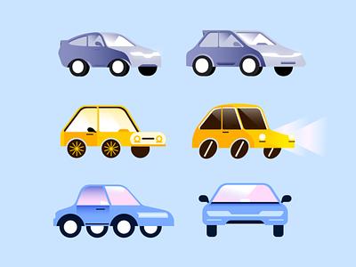 Car Variations app icon branding logo vector art character design illustration uiux ride hailing vehicle car
