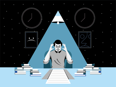 Overtime art logo branding character design vector landing page color uiux illustration web design