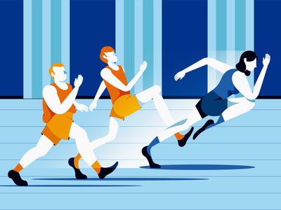 Best in the race branding color character design vector character design art interaction design illustration web design