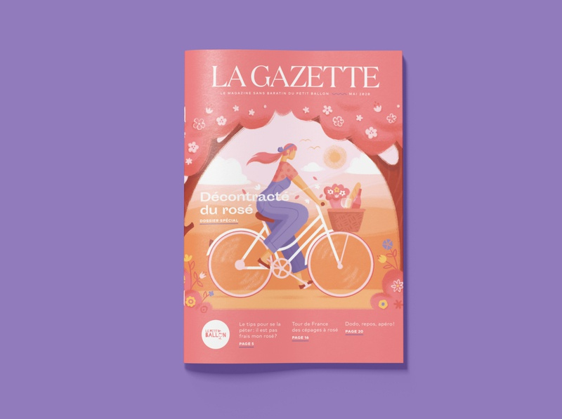 La Gazette May painting character design people spring texture hand drawn editorial illustration