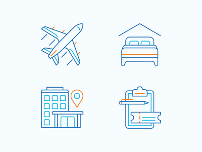 Airline - Iconography editorial branding design icons iconography geometric icon line illustration vector