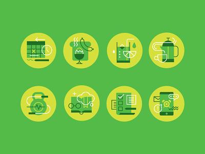 Morning Rituals Icons bold icon design icons spot illustration iconography line geometric illustration vector