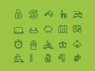 Woolworths Icons animated icons iconography motion vector icon library motion graphics animation line icon