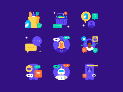 Yalo Icons branding after effects motion graphics animation motion illustration vector