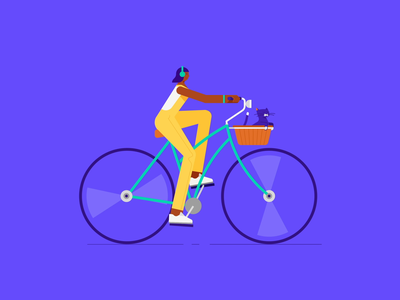 Yalo Cyclist Character design character motion motiongraphics branding illustration animation character animation