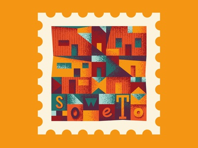 TownSquares: Soweto south africa texture brushes african art africa postage stamp stamp travel geometric illustration vector
