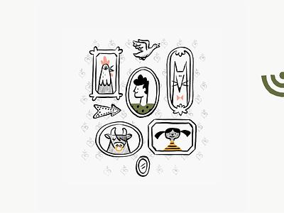 Root - Online Grocer drawing market organic handdrawn brand spot illustration character illustration branding logo