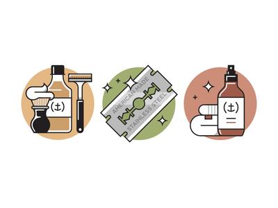Admiral Supply - Prevent Razor Burn line iconography cosmetics admiral supply grooming razor men shave icon vector
