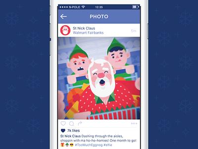 Santa Selfie presents advent blackfriday shopping elves selfie christmas santa
