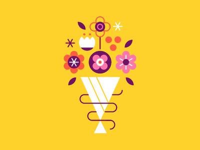 Spring Flowers season bloom spot illustration vector flower spring