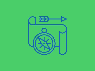 Adventure genre map scroll compass arrow adventure movie icons line vector