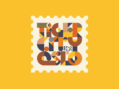 Oslo lettering typography tiger norway oslo spot illustration illustration travel stamp vector