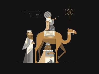 The Wise Men jesus bible camel wise men star christmas character illustration vector