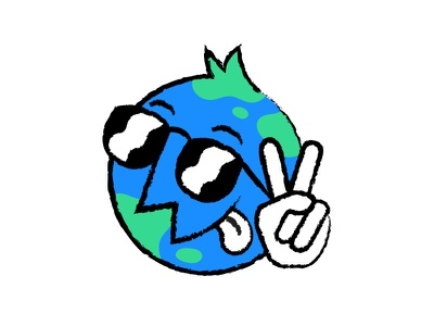 Happy Earth Day! eco logo environment earth planet handdrawn character mascot illustration earthday