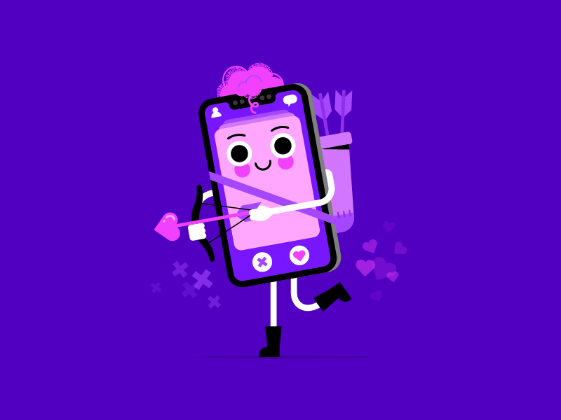FF007: Is this the new cupid? cupid tinder character design cute datingapp valentines day character illustration vector