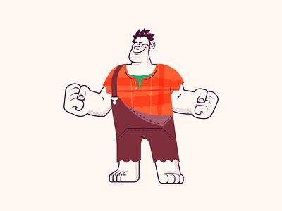 FF008: Wreck-it-Ralph ✊🏻 texture handdrawn halftone retro character design oscars character illustration vector