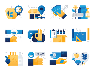 Which Magazine Icons magazine illustration shopping design icons spot illustration editorial iconography geometric icon illustration vector