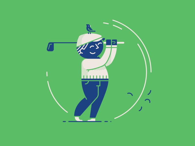 Dear Dad... golf vintage retro dad father editorial spot illustration character illustration vector
