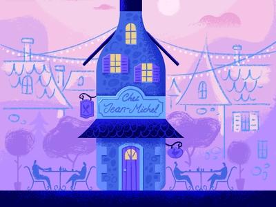 La Gazette December brush wine digital illustration free-hand romantic magazine editorial illustration