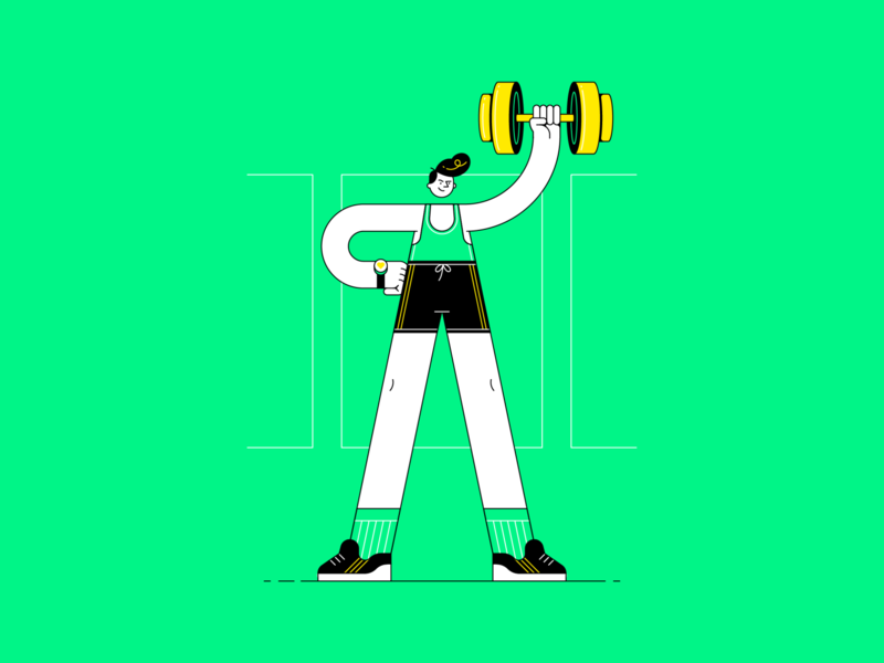 ProAktiv | Fitness Management App branding design app editorial spot illustration icon line character illustration vector