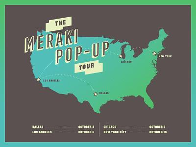 The Meraki Pop-Up Tour tour map meraki gradient