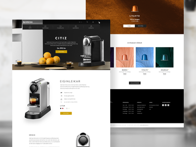 Nespresso E-commerce ux ui iceland ecommerce digital design website coffee nespresso