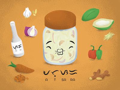 Filipino food: Atsara