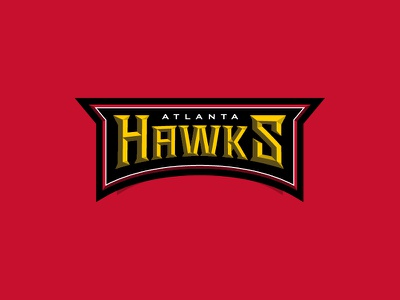 NBA logos redesign - Atlanta Hawks Extra 02 illustration logo branding sports sport hawks basketball nba atlanta atl