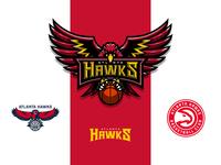 NBA logos redesign - Atlanta Hawks Extra 04