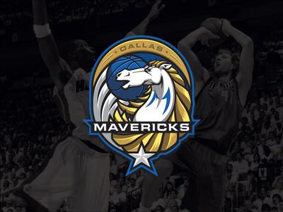 NBA logos redesign - Dallas Mavericks