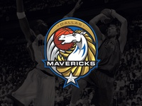 NBA logos redesign - Dallas Mavericks nowitzki sports branding sports logo sports redesign nba basketball mavericks dallas mavericks dallas