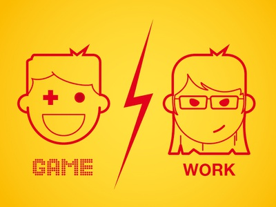 Game / Work picto work game