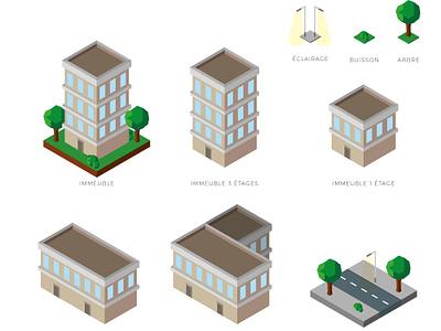 Isometrics Elements City illustration isometric design design illustrator