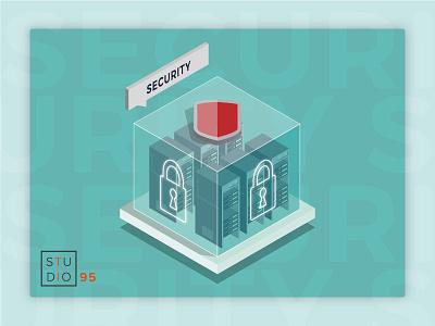 Security Isometric art vecteur servers server design security isometric illustration isometric illustrator