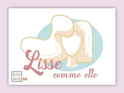 Logo Lisse Comme Elle vector logo illustration art design illustrator