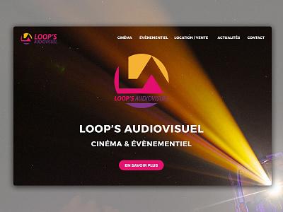Site Loop's Audiovisuel design art photoshop illustrator ui