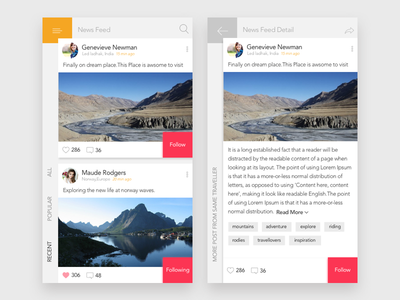 Quick Experiment with elements of material UI. wireframe grid detail view list view fun simple sketch traveller experiment ux ui