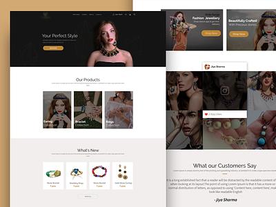 Ecommerce Webpage-unused shopping ecommerce fashion ornaments jewellery user interface uiux homepage webpage