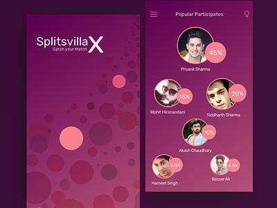 MTV-Splitsvilla App experiment gui user interface uiux ux ui dating dating app