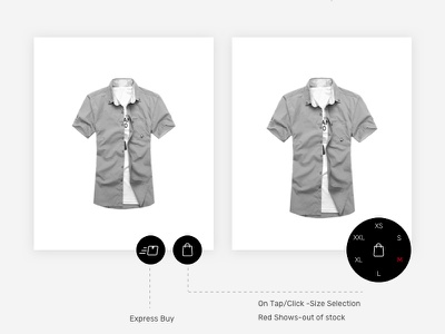 Ecommerce Shopping  Add To Cart -Concept shopping experiment uiux add to cart e-commerce concept
