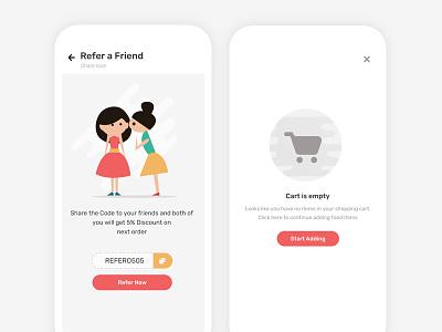 Food Delivery App 02 iphone x ios visual design user interface uiux cart restaurant food app