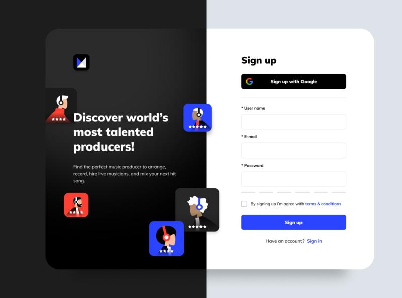 Sign Up Exploration sign up signup web design website ux ui