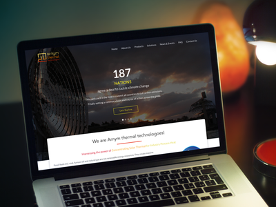 Arnym Thermal Technologies  technologies thermal power simple website single page one page website template