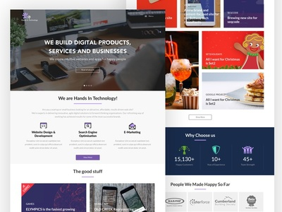 hands in technology website - Landing page elegant simple onepage website landing page