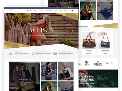 Buy, Sell and exchange designer handbags one page website ecommerce handbags designer