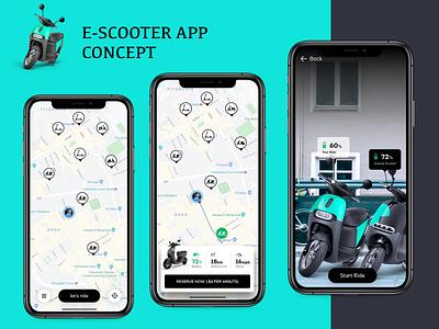 escooter app concept mobility e scooter app