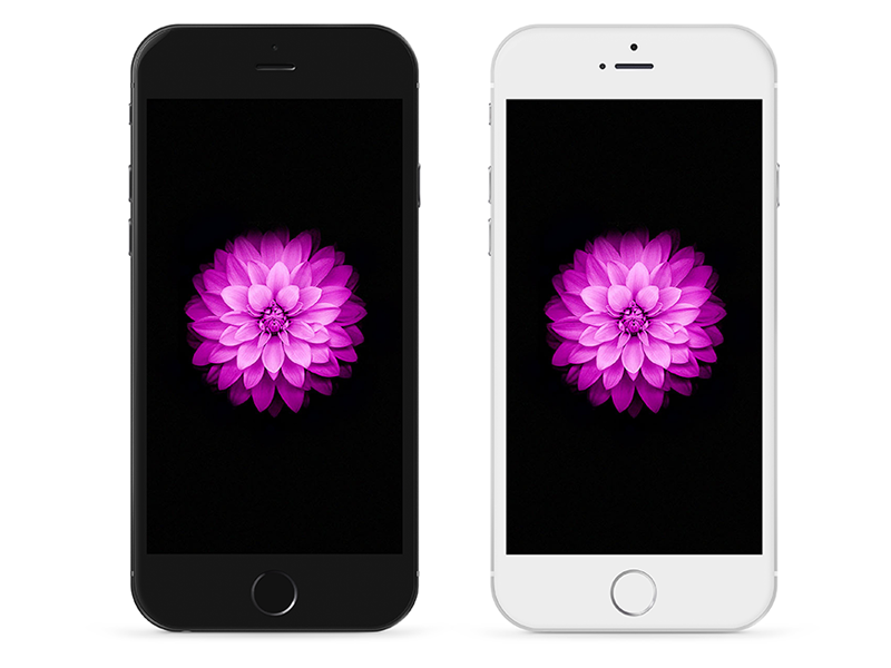 iPhone 6 Plus - Psd iphone iphone6 plus mockup psd white black