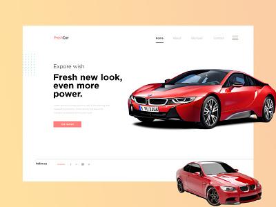 Car Webpage Hero section UI design app design ux car site car company branding ui website uidesign website design car website