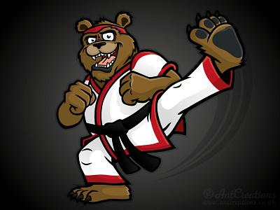 Martial Arts Bear martial arts karate cartoon illustration vector illustration vector bear